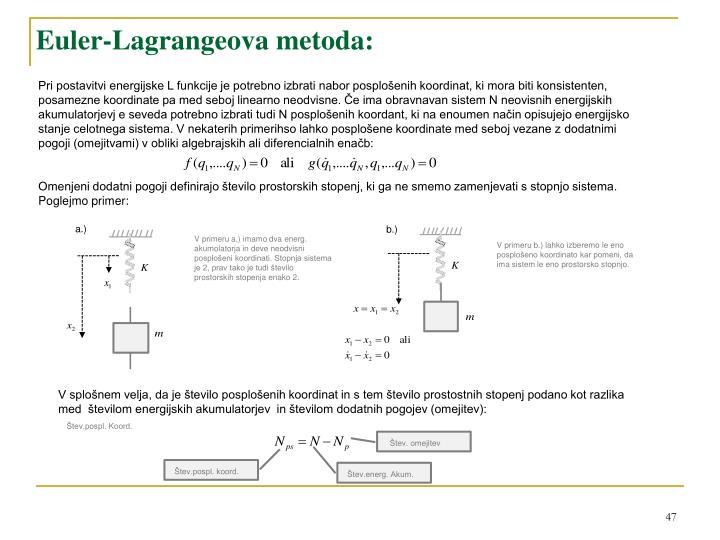 Euler-Lagrangeova metoda
