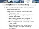 teaching financial responsibility continued1