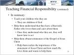 teaching financial responsibility continued19