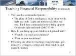 teaching financial responsibility continued7
