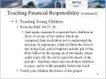 teaching financial responsibility continued9