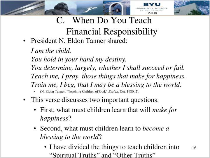 When Do You Teach