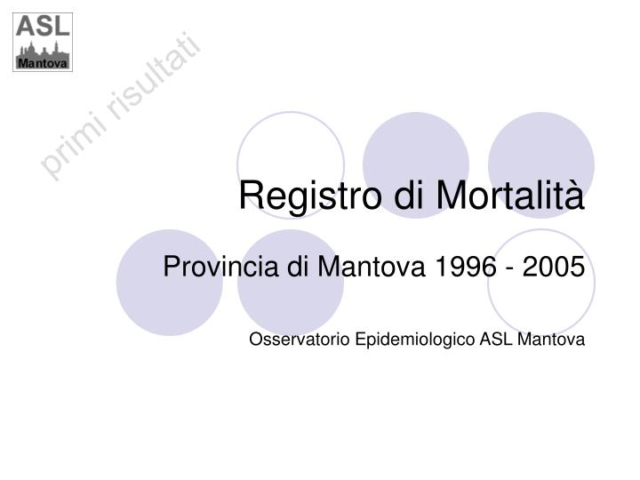 registro di mortalit
