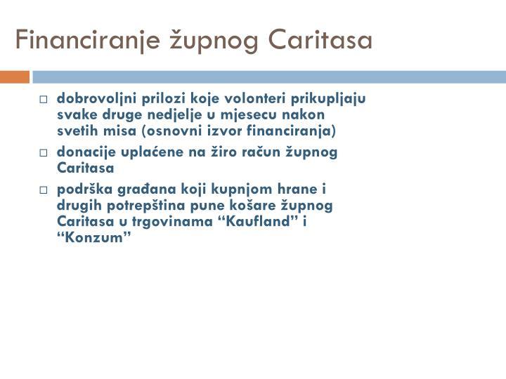 Financiranje župnog Caritasa