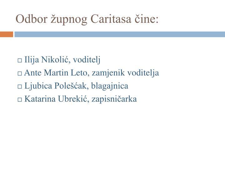 Odbor župnog Caritasa čine: