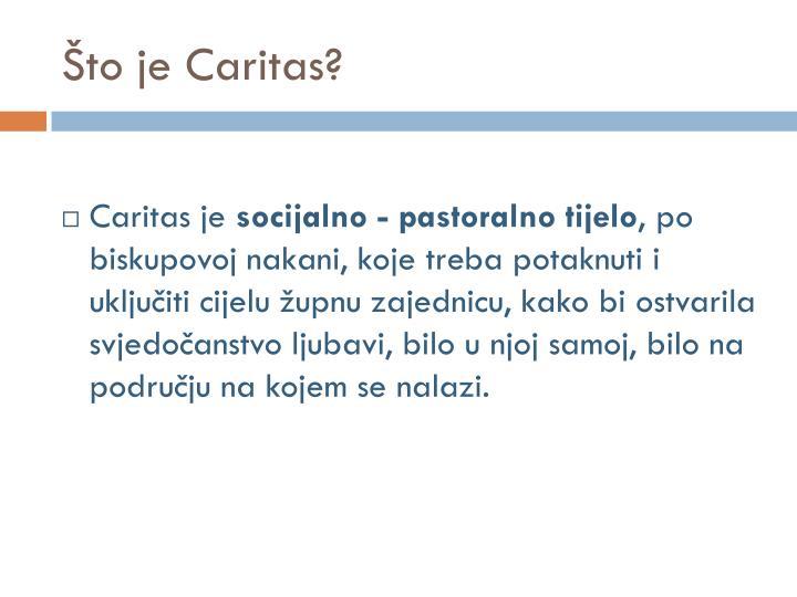 Što je Caritas?