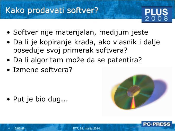 Kako prodavati softver?