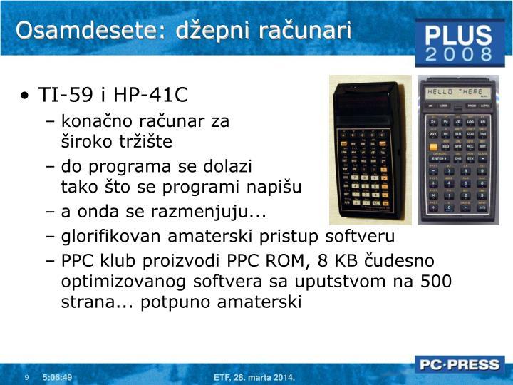 Osamdesete: džepni računari