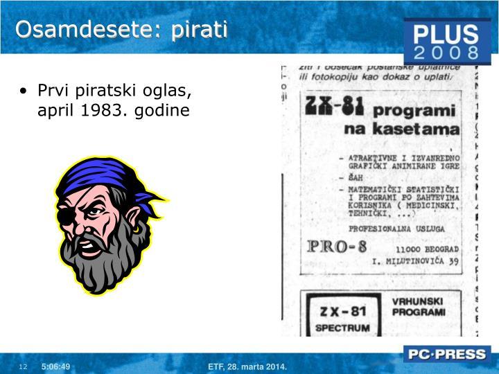 Osamdesete: pirati