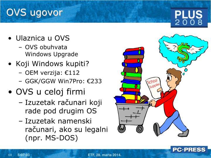 OVS ugovor