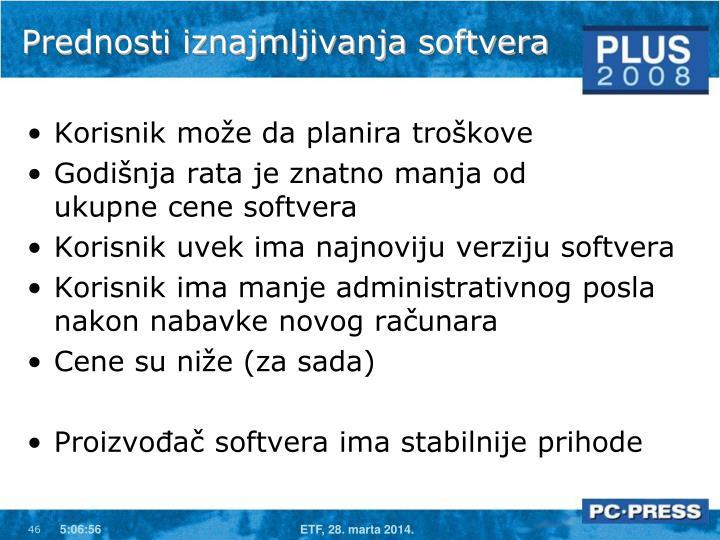 Prednosti iznajmljivanja softvera
