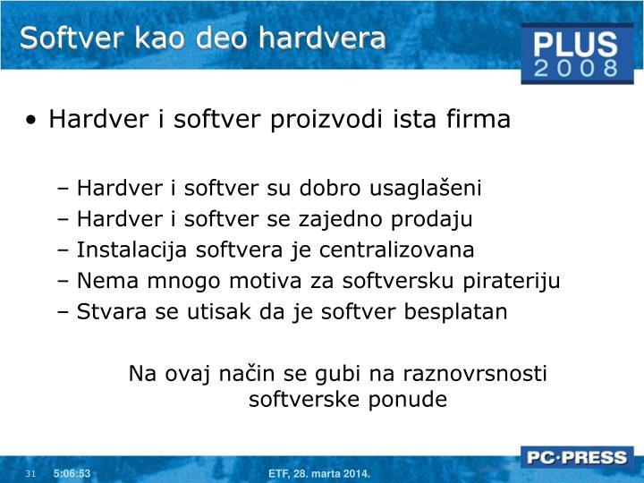 Softver kao deo hardvera
