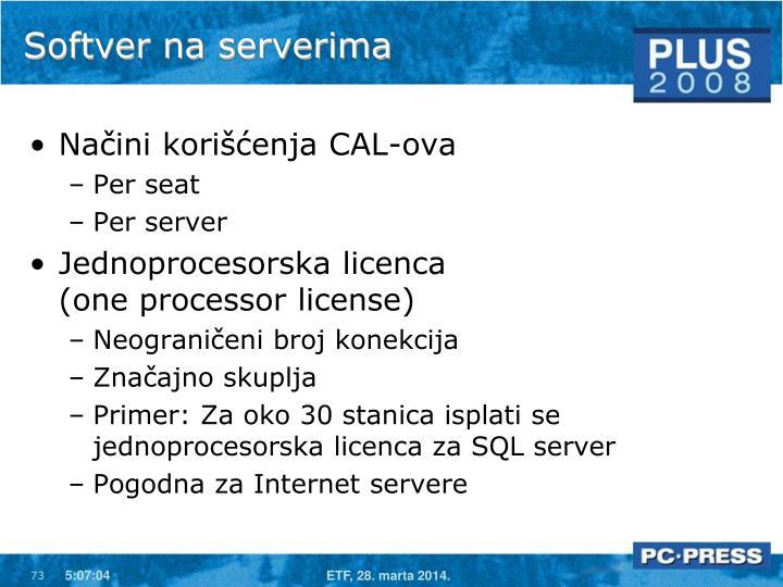 Softver na serverima