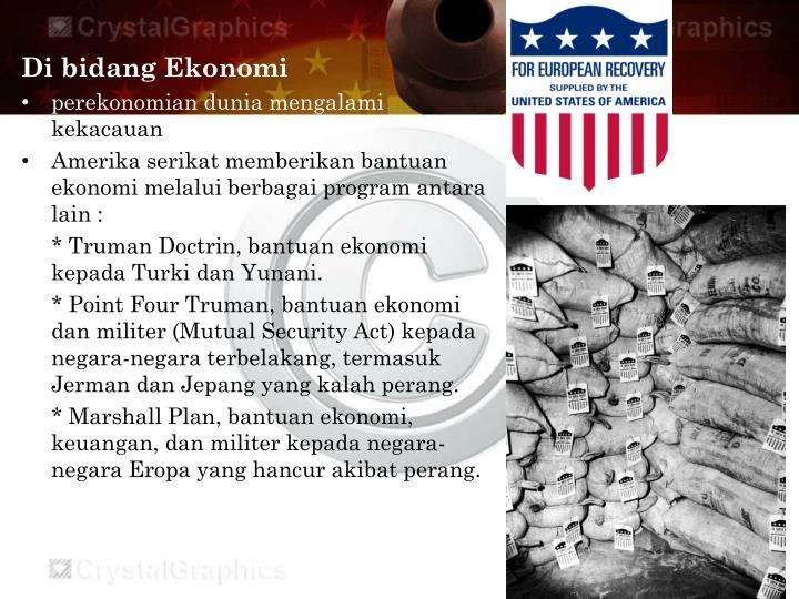 Di bidang Ekonomi