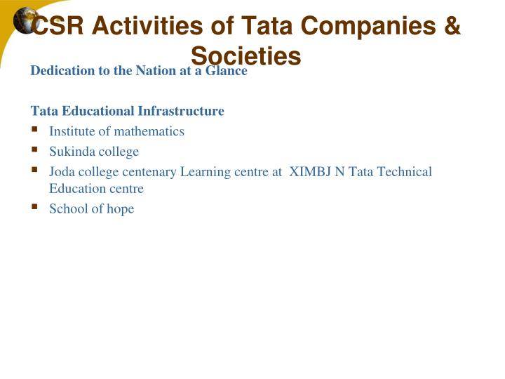 corporate social responsibility a case study of tata group