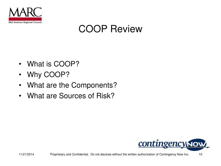 COOP Review