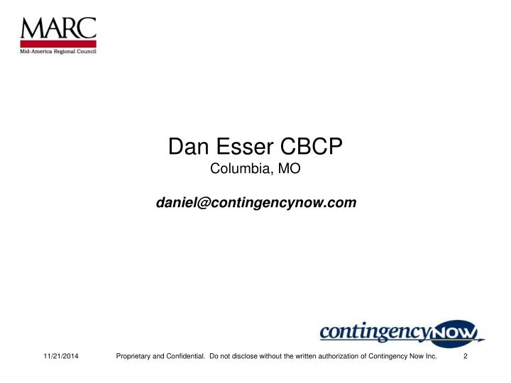 Dan Esser CBCP