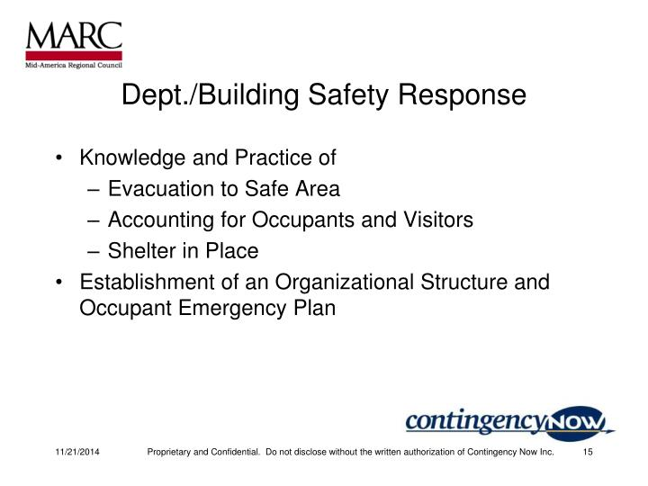 Dept./Building Safety Response