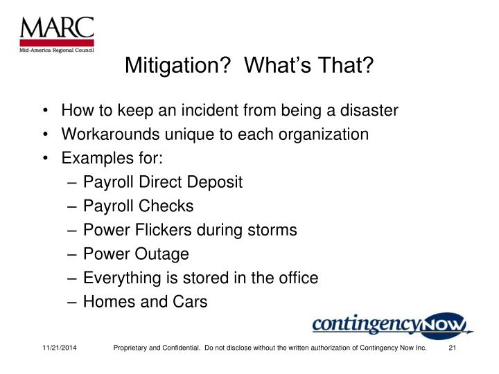 Mitigation?  What's That?