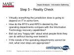 step 5 reality check