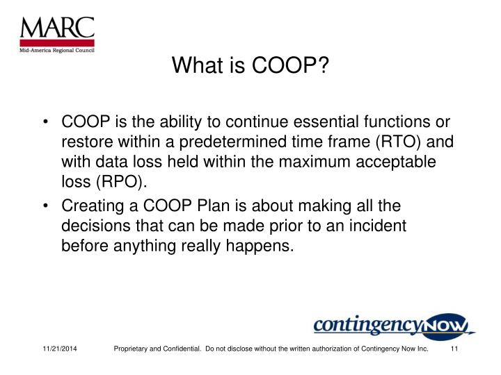What is COOP?