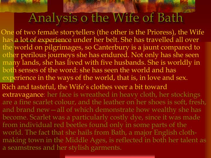 Analysis o the Wife of Bath