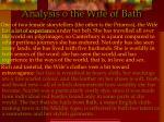 analysis o the wife of bath