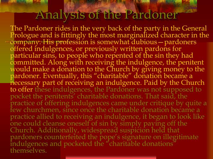 Analysis of the Pardoner