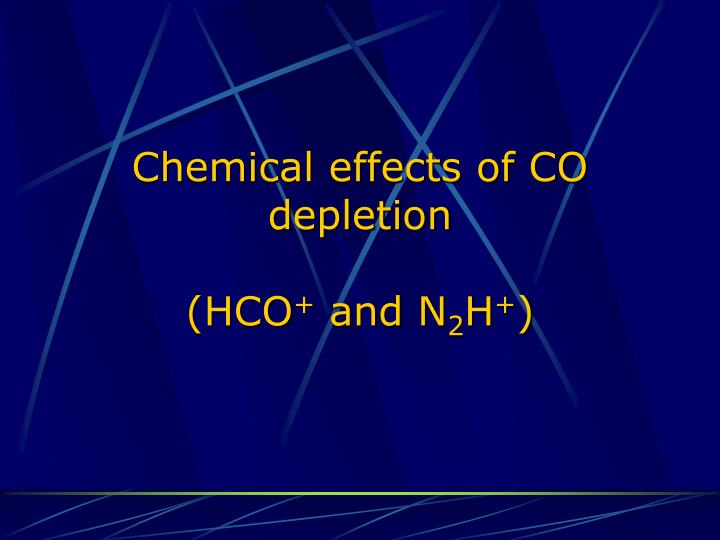 Chemical effects of CO depletion