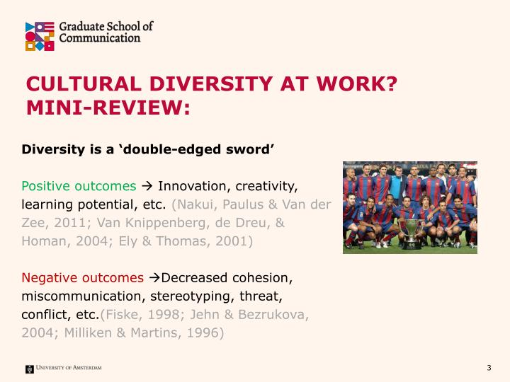 Cultural diversity at work mini review1