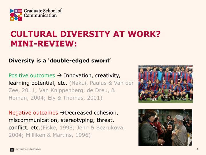 Cultural Diversity at work?