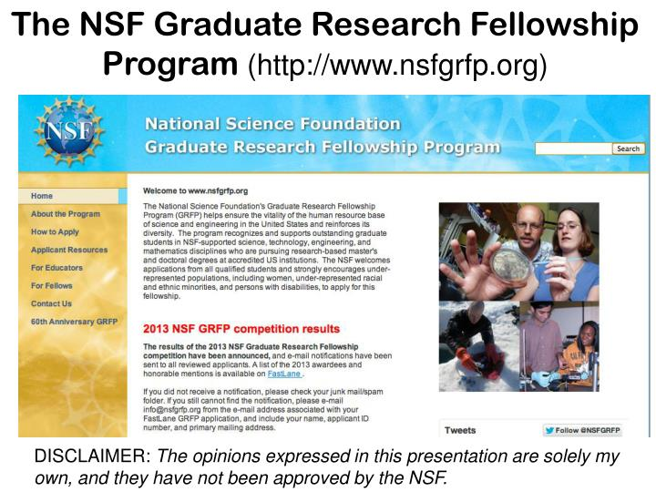 nsf grfp research proposal essay