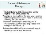 frames of references theory