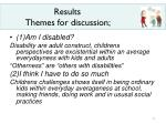 results themes for discussion