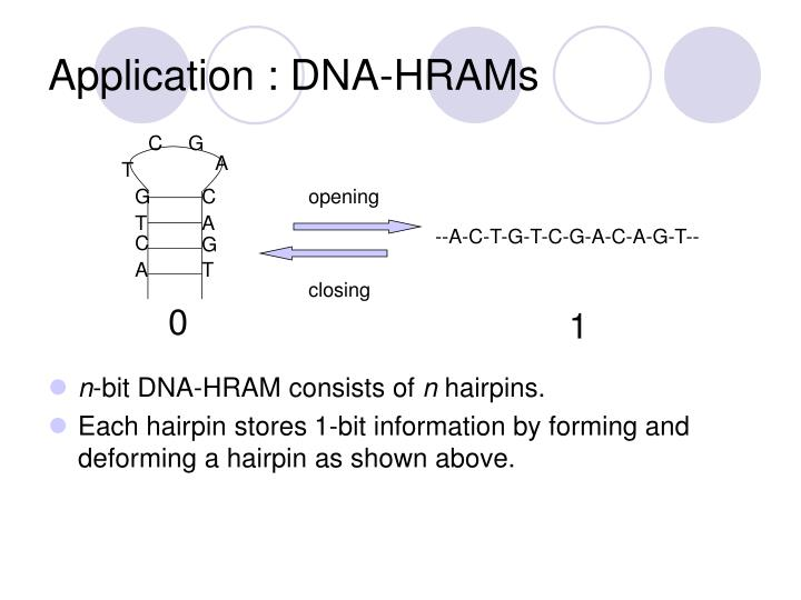 Application : DNA-HRAMs