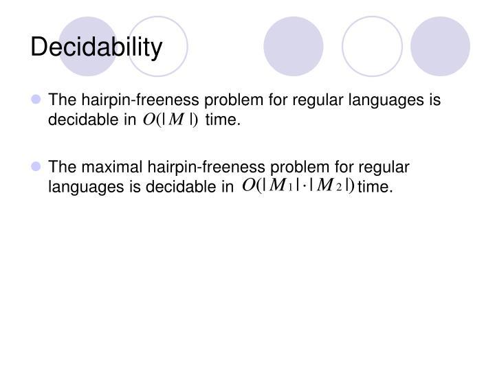 Decidability