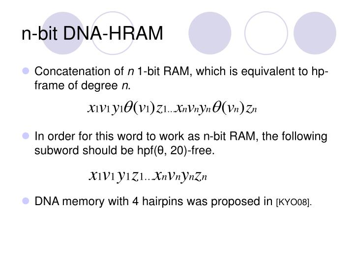 n-bit DNA-HRAM