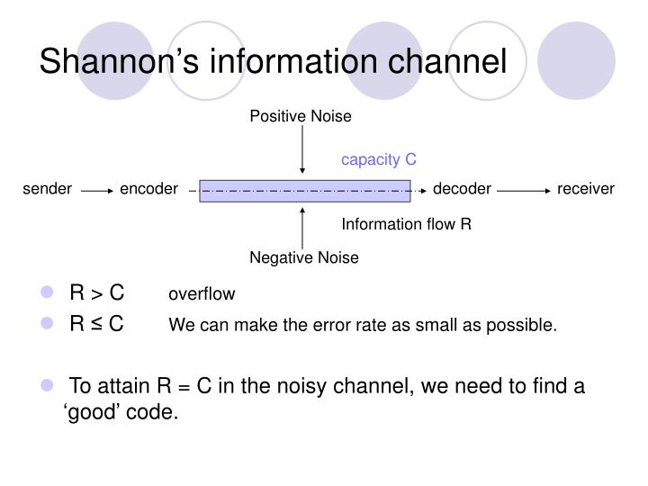 Shannon's information channel