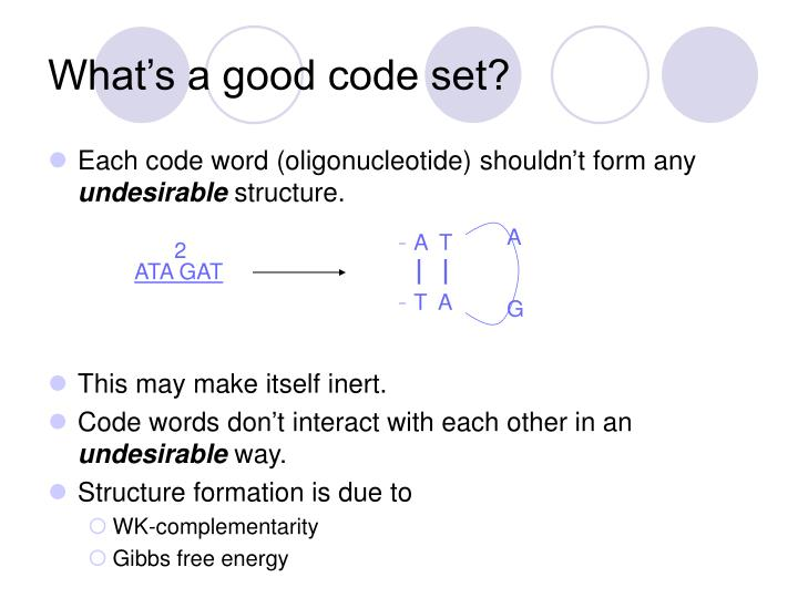 What's a good code set?
