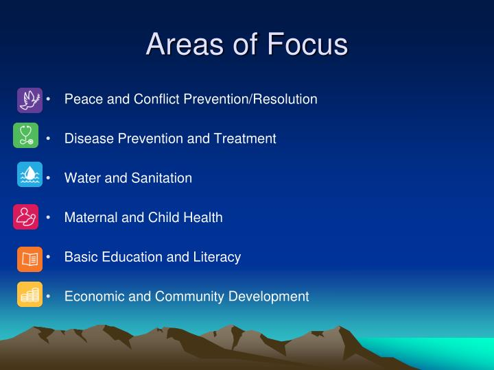 Areas of Focus