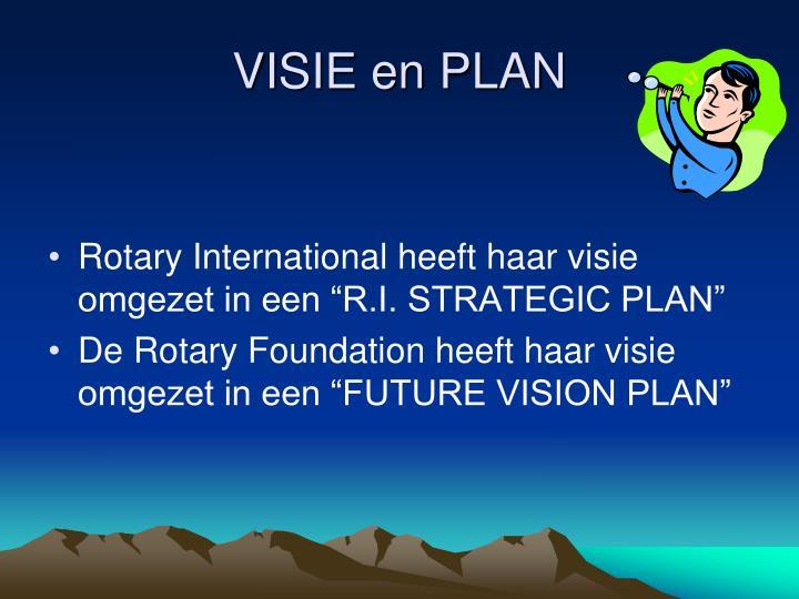 VISIE en PLAN