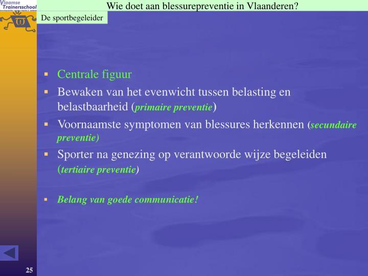Wie doet aan blessurepreventie in Vlaanderen?