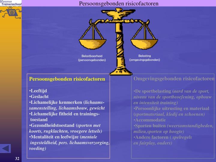 Persoonsgebonden risicofactoren