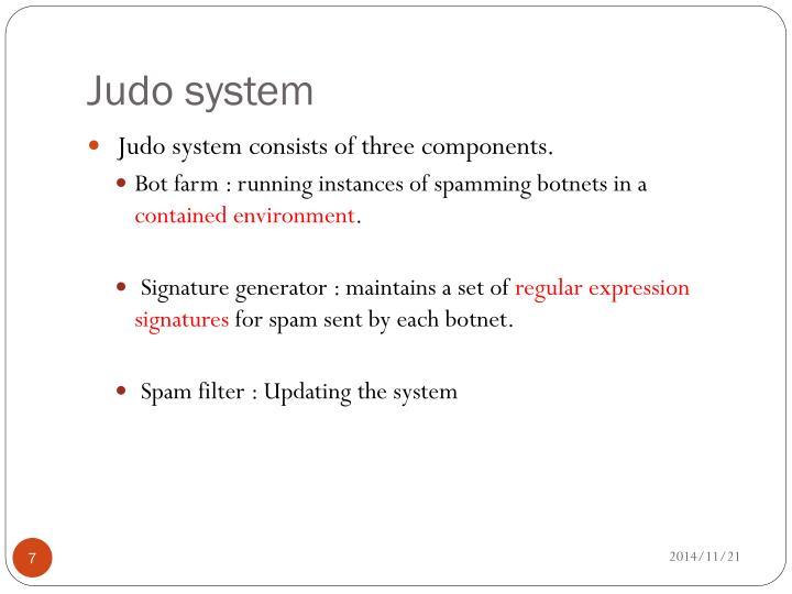 Judo system