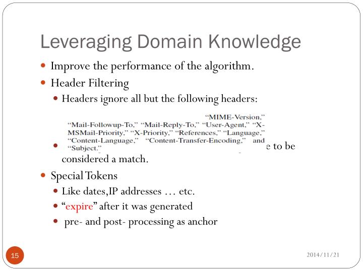 Leveraging Domain Knowledge