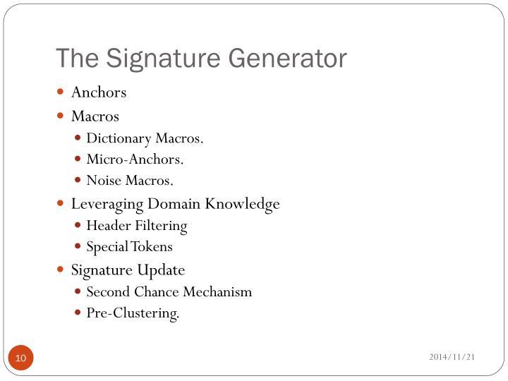 The Signature Generator