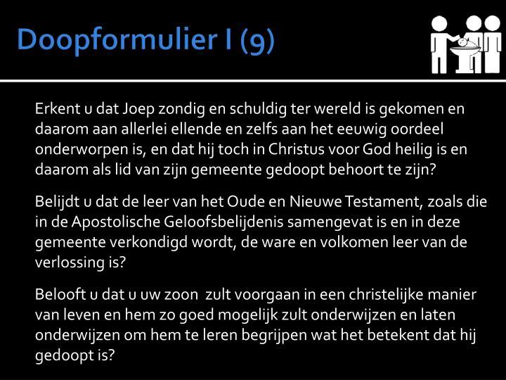 Doopformulier I (9)
