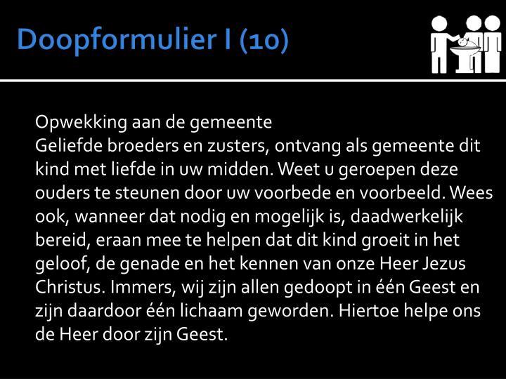 Doopformulier I (10)
