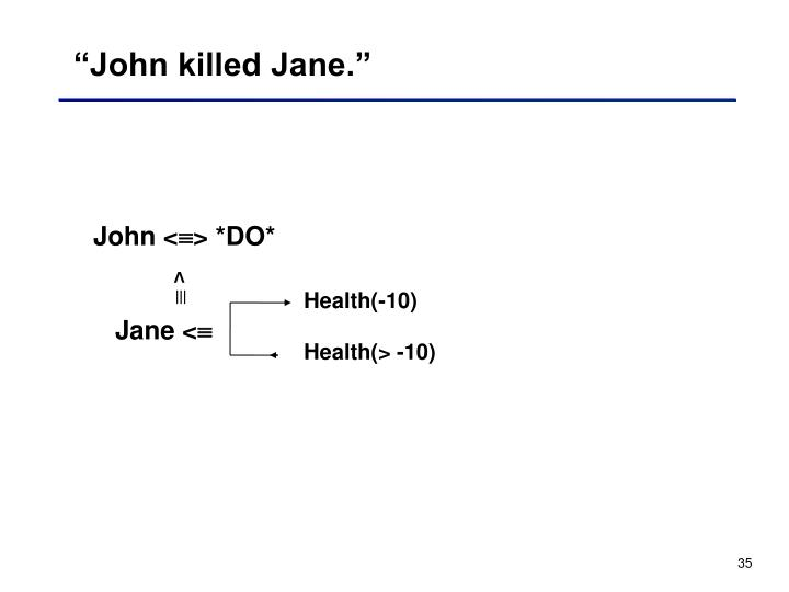"""John killed Jane."""
