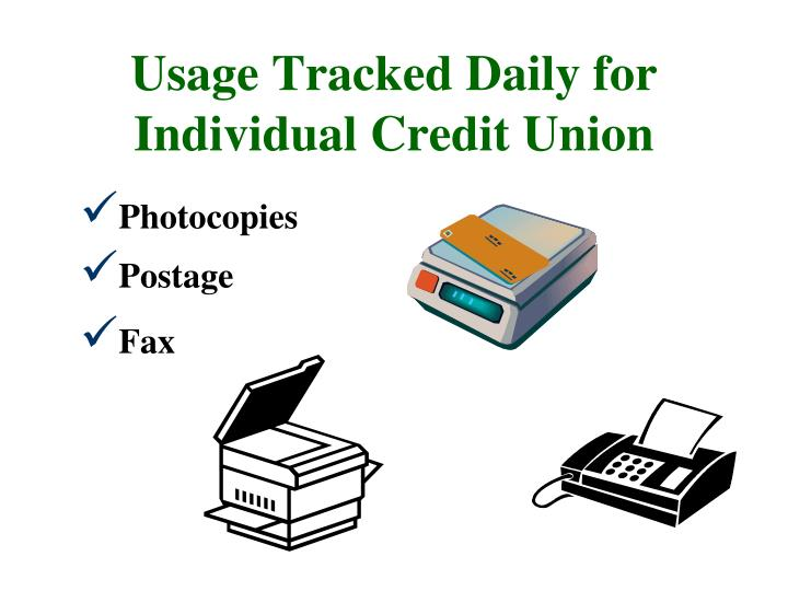 Usage Tracked Daily for Individual Credit Union